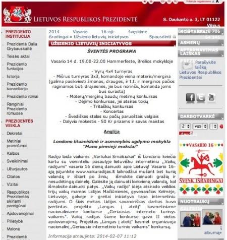President of Lithuania Leaping Toads Mano Pirmieji Mokslai